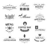 Restaurant signs — Stock Vector