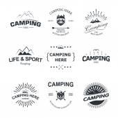 Camping — Stockvektor