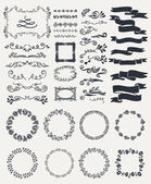 Hand-drawn elements — Stock Vector