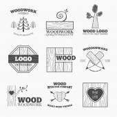 Wood products logo vector — Wektor stockowy