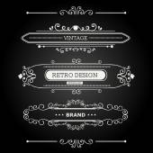 Set of Vintage Decorations Elements. — Stock Vector
