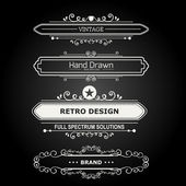 Set of Vintage Decorations Elements. — Stock Vector