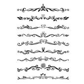 Retro style set of ornate floral patterns template — Stock Vector