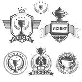Vector winner logos — Stock Vector