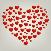 Carte de saint valentin coeur — Vecteur