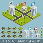 Isometric elements map creator — Stock Vector #55091215