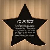 Speech cloud star. Cardboard background — Stock Vector