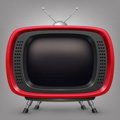 Retro red tv — Stock Vector