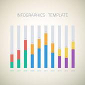 Web Infographic Timeline bar Template — Vector de stock