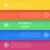 Web Infographic Timeline Template Layout — Stock Vector