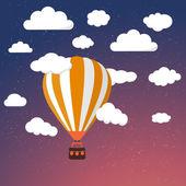 Мультипликационный воздушный воздушный шар ретро — Cтоковый вектор