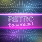 Fundo de cor Neon Vintage retrô — Vetor de Stock