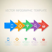 Web Infographic Arrows Template Layout — Stock Vector