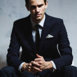 Handsome serious man in business suit. — Stock Photo #67350127