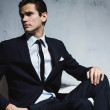 Handsome serious man in business suit. — Stock Photo #67350315