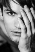 Close up of male face. — Foto Stock