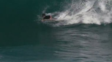 1080p, Bodyboarding on Hawaiis Beaches — Stock Video