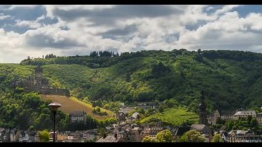 Timelapse, Cochem Castle, Mosel Area, Germany — Stock Video