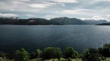 Timelapse, Landscape, Clouds, Mountains, Fjords in Norway — Stock Video