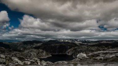 эпические и драматические fullhd промежуток времени из района норвегии — Стоковое видео
