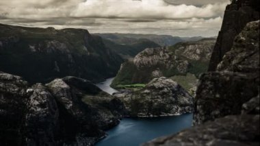 Epic and dramatic fullhd time lapse of Norway area — Stock Video