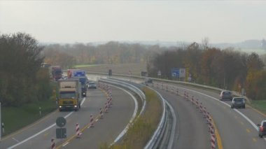 Traffic on german Autobahn, Cars and Trucks — Stock Video