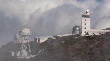 Fullhd zaman atlamalı, La Palma, Gözlemevleri — Stok video