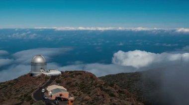 FullHD Time lapse, La Palma, Observatories — Vídeo stock