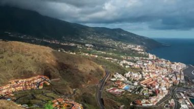 Fullhd zaman atlamalı, La Palma, Santa Cruz De La Palma — Stok video