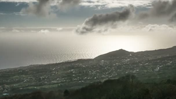 Lapso de tiempo de Fullhd, La Palma, Breña Alta — Vídeo de stock
