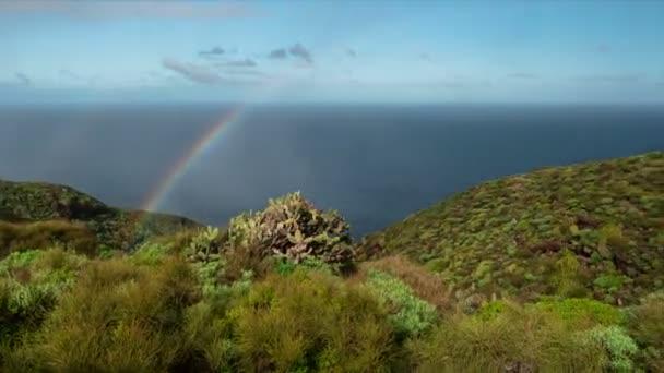 Fullhd tiempo transcurrido, La Palma, arco iris — Vídeo de stock