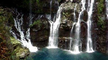 Waterfall, Ile De La Reunion — Wideo stockowe
