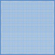 Постер, плакат: Gingham Design Square in blue with darker edge and stitched border