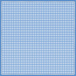 ������, ������: Gingham Design Square in blue with darker edge and stitched border