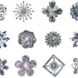 Glittery Painted Snowflakes — Stock Photo #56611107