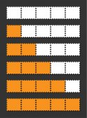 Vector orange loading bar — Stock Vector
