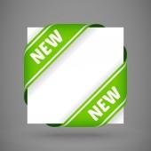 Vector green new corner ribbons — Stock Vector