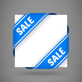 Vector blue sale corner ribbons — Stock Vector