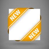 Vector orange new corner ribbons — Stock Vector