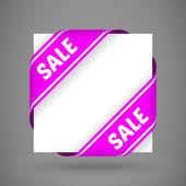 Vector purple sale corner ribbons — Stock Vector