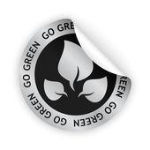 Vector go green bent sticker — Stock Vector