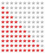 Vector rating stars — Stock Vector