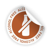 Vector alcohol free bent sticker — Vecteur