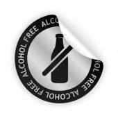 Vector alcohol free bent sticker — Stock Vector