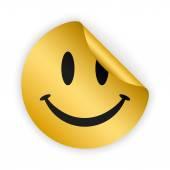 Vector smile bent sticker — Stock Vector