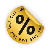 Vector sale bent sticker — Stock Vector