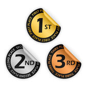 Vector medal bent stickers — Stock Vector