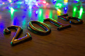Gold 2015 New Year On wood — Stock Photo