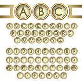 Typewriter buttons alphabet — Stock Vector