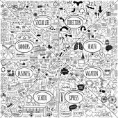 Mega doodle icons set — Stock Vector